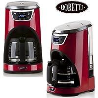 Eleganter Design Kaffeeautomat mit Aromakontrolle | Timerfunktion | Mit Permantentfilter oder Papierfilter nutzbar | Spülmaschinenfest | Starke 1000 Watt (Design Kaffeemaschine Rot)