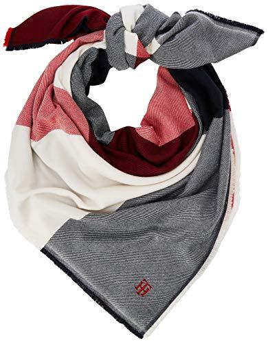 Tommy Hilfiger Damen TH BLANKET Schal, Weiß (White 0k9), One Size (Herstellergröße:OS)
