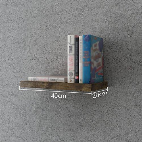 Book Jia bücherregale Amerikanisches Dorf an der Wand befestigtes Retro- industrielles Bücherregal/Studienwandwanddekorationsanzeige Bücherregal (größe : 20 * 40cm)