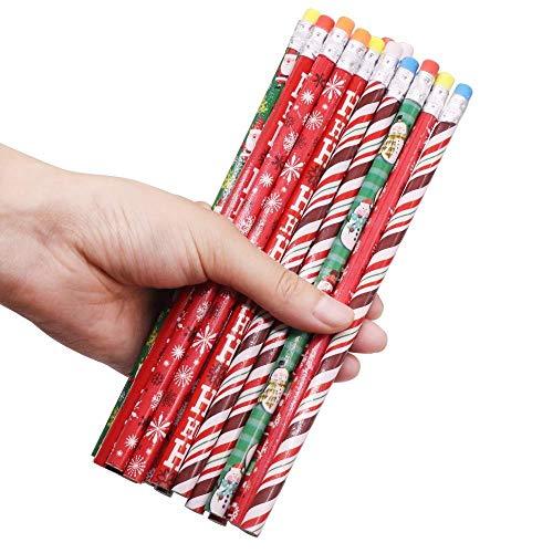 THREE 100 Stk. HB Modell Bleistift Schwarz Halloween Weihnachten Mischmuster Muster Stift Zimmermann Blei Eltern senden ihre Kindergeschenke, 100 Stk