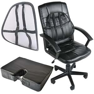 Support du Siège orthopédique et Coussin Wedge Accueil ou bureau chaise sofa voiture usage arrière douleur lombaire