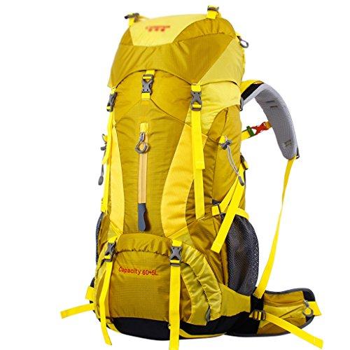 Xuan - Worth Having Sac à Dos en Plein air Sac d'alpinisme épaule Hommes Femmes Voyage Sac à Dos randonnée 65L Grande capacité Portable, Facile à Transporter, imperméable à l'eau, Larme + Housse d