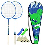 #9: Guru Magic BS02-Combo-1 Two Racket & 2 PVC Grip & 1 Cover & 3 shuttlecock Badminton Set 27 inch