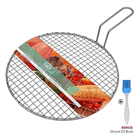 Geekbuzz Multi-Purpose barbecue étagère Plateau en acier inoxydable pour barbecue grill rond refroidissement de cuisson à la vapeur Rack avec 3pieds Diameter:11.6
