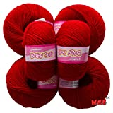 #10: Vardhman Acrylic Knitting Wool, Pack of 6 (Deep Red) (Pack of 6)