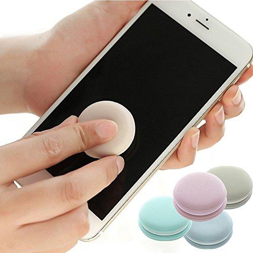 Contever Bildschirmreiniger für iPad, Laptop, Handy und Gläser, Mobiltelefon Schlüsselanhänger Ornamente, 4-Pack Farben (Ornament Schwere Glas)