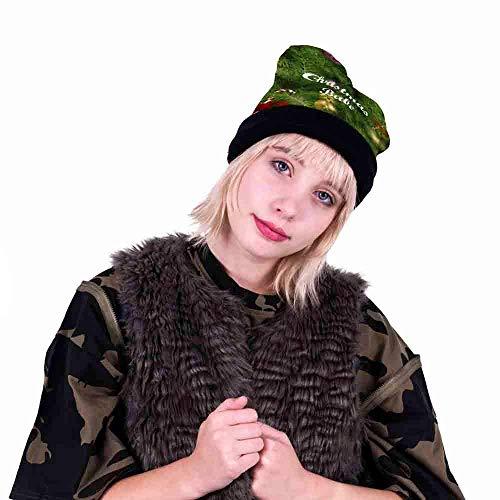 ZHRUI Hüte, Weihnachten Unisex Caps Entzückendes Muster Bedruckte Weihnachtsfeierhut Fancy Dress Partyhüte Deluxe Neuheit Mützen Weihnachten Motto Familie Hut für Erwachsene (Skull Cap Deluxe)