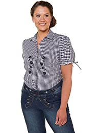 d9e2157168fd Ulla Popken Damen große Größen bis 64, Trachten-Bluse, Shirt mit Muster,