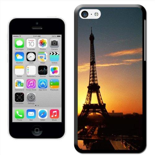 France Coque arrière rigide détachable pour Apple iPhone modèles, plastique, Eiffel Tower Paris At Sunset, iPhone 5C Eiffel Tower Paris At Sunset