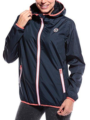 Woldo Athletic Übergangsjacke Damen Herbstkleidung für den Herbst Windbreak Softshell - leicht zu tragende Jacke gegen Regen und Wind blau Small S