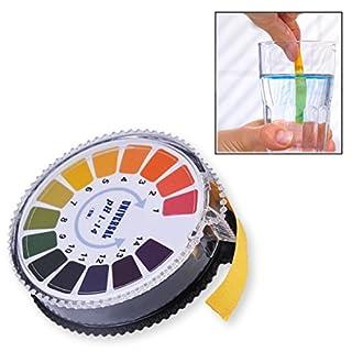 Universal 5 Meters PH Indicator Litmus Test Paper Strip Roll, PH 1-14 Universal Full Range Litmus Strips Tester For Water, Urine, Saliva - Gearmax