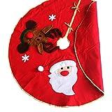 Meigold Árbol de Navidad Rock Alce Copo de Nieve Adornos de Navidad de Papá Noel Redonda Guardabarros Alfombra Árbol