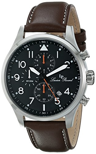 Lucien Piccard Men's LP-13346-01-BRW Peak Analog Display Japanese Quartz Brown Watch