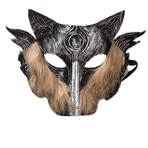 Wolf Kostüm Adult - Wansan Wolf Mask Adult Kostüm Maskerade Maske für Geburtstagsfeier Ostern Halloween