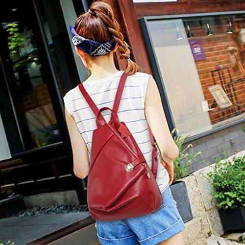 Y&F Frau Rucksack Reisetasche Schultertaschen Handtasche 28 * 15 * 37 cm Red