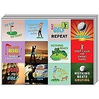 Creanoso Inspiring Sayings Golf Stickers for Golfers (10-Sheet) û Premium Gift Set - Inspirational Sayings Quote Sticker Assorted Set û Gift Rewards Ideas for Men Women, Golfers, Golf Players