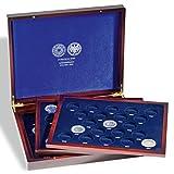 Leuchtturm 325204 VOLTERA Trio de Luxe Münzkassette für alle 10 DM Gedenkmünzen | Für 61 Münzen in Kapseln | Für die Jahre 1972 und 1987-2001