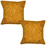 Handicraftworld Designer Indian Home Decorative Cotton Cushion Cover Amazon Rs. 699.00