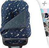 Winterfußsack für Babyschale Universal Autositz Gruppe 0 Maxi cosi cabriofix, Pebble, Romer, Cybex Janabebe (ROCK HERO)