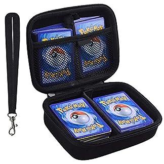 ANTS Estuche Rígido Tarjetas comerciales Pokemon. Se Adapta a 400 Tarjetas. Incluye 2 separadores Extraíbles