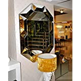 Art Deco Wall Mirror By Venetian Design Dimensions 36 X 24 Inches