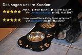 Napf Set für Katzen & kleinere Hunde – 2x Edelstahlnapf incl. flexiblem Silikontablett - 7