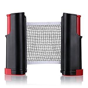Tragbar Versenkbare Tisch Tennis Net Ersatz, Homeself Tischtennis Net Post Set Accessory, 6 Fuß (1,8 m), passt für Tische bis 5,1 cm (5,0 cm)