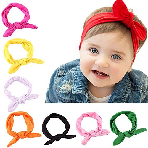 GOPOWD Bebé Niña Arco Turbantes Bandas para la Cabeza con las Oídos...