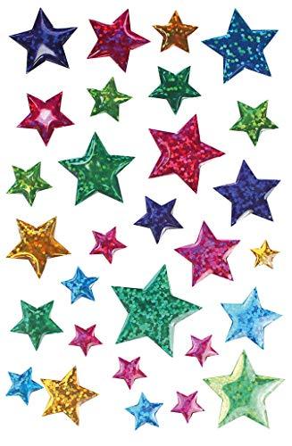 MegaCrea DIY Sticker époxy étoile Couleurs Assorties 13 à 22 mm