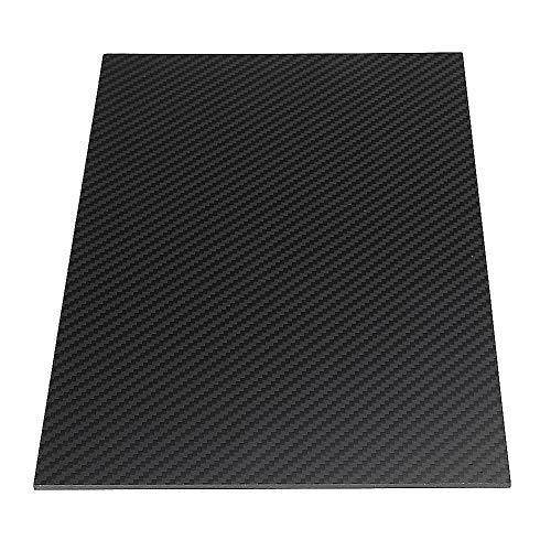 TuToy 200X300Mm 3K Carbon Fiber Board Carbon Fiber Platte Twill Weave Matte Panel Sheet 0,5-5Mm Dicke - 2Mm