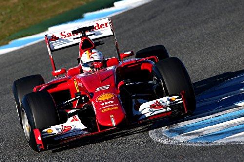 Preisvergleich Produktbild SEBASTIAN VETTEL – Ferrari F1 2015 - US Imported Movie Wall Poster Print - 30CM X 43CM Brand New Formula One