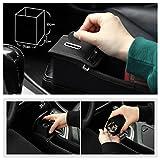 KMMOTORS Münze Side Pocket Konsole Seitentasche, Auto Organizer (schwarz ohne Getränkehalter)