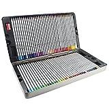 Taotree 72 Farben Art Drawing Pencil Marco Raffine Buntstifte Set Farbstifte mit Metall-Box für Secret Garden Coloring Book Manga Creation (Nicht Enthalten) / Künstler Sketching Zeichnung Schreiben, 72 Stück