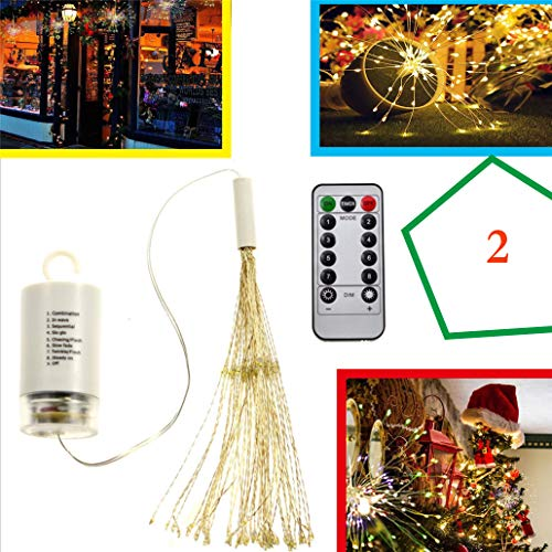 Starburst Lights Fireworks LED Lichterkette Hochzeit Dekorationen Weihnachten,2Pieces