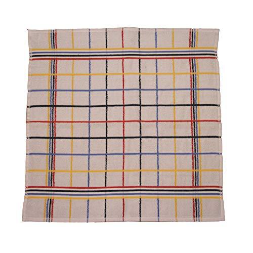 Casa colori - asciugamano da cucina in spugna, 100% cotone, 50 x 50 cm, bianco a quadretti