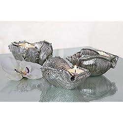 Muschel Leuchter Seashell 3er Set Badezimmer Dekoration Teelicht Deko für Bad