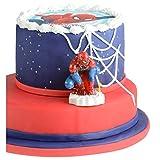 Candela Spiderman 3D in cera per torta a tema Modecor