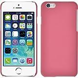 PhoneNatic Case für Apple iPhone 6s / 6 Hülle rosa gummiert Hard-case + 2 Schutzfolien