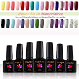 Coscelia 20 Wünschfarben Wählen- 20 Farben Maniküre Gel-Lack Farbenset LED Nagellack Gelnägel Lacken UV Farbgel Nagel gel Lack