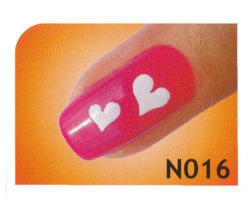 Nail Art Schablonen selbstklebend für Airbrush, Nagellack oder Stamping Lack - Motiv N016/1 Bogen mit 10 Sticker