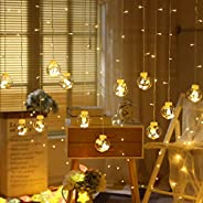 KharidoLive 108LED Ball Curtain Light Fairy String Rice Lights for Decoration with 8 Flash Modes Diwali Christ