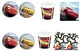Cdc -kit n°10 festa e party Cars 3 - Cars (40 piatti, 40 bicchieri, 40 tovaglioli,1 Tovaglia)