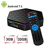 T95Z Plus Android 7.1 TV Box 3GB RAM/32GB ROM Octa Core Amlogic S912 TV Box Soporte 4K Dual Band WiFi 2.4GHz/5GHz Bluetooth 4.1 HDMI Ethernet 64 bits