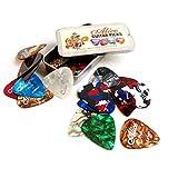 24 X Celluloïd Médiators 3 différentes épaisseur 0.46mm / 0.71mm / 0.81mm, Alice Coloré Plectres Guitare Electrique Acoustique et boîte