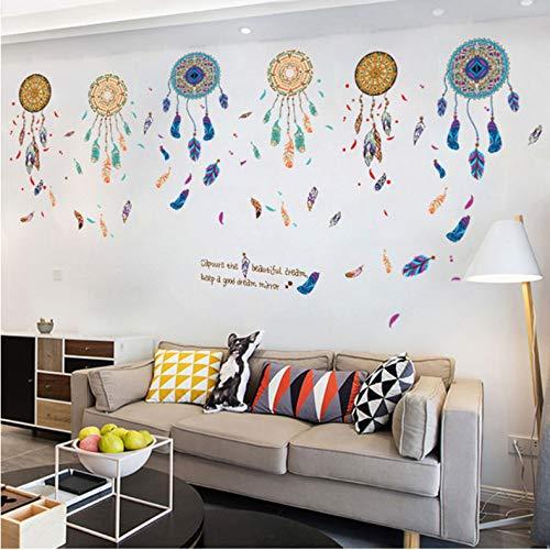 Yirenfeng Mandala Wandaufkleber Wand Ziegel Muster Selbstklebende Wohnkultur Wohnzimmer Wandbild Kunst Pared Gato #Xt
