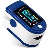 Goeco Pulsossimetro da Dito, Saturimetro Dito Portatile, con Allarme SPO2 Display OLED Ossimetro di Sangue per Domestico, Fit