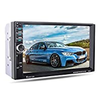 7 inch 2 Din Car Video Player MP5 Player BT GPS Navigation FM Radio Steering Wheel Remote Control Support Rear Camera