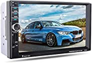 7 inch 2 Din Car Video Player MP5 Player BT GPS Navigation FM Radio Steering Wheel Remote Control Support Rear