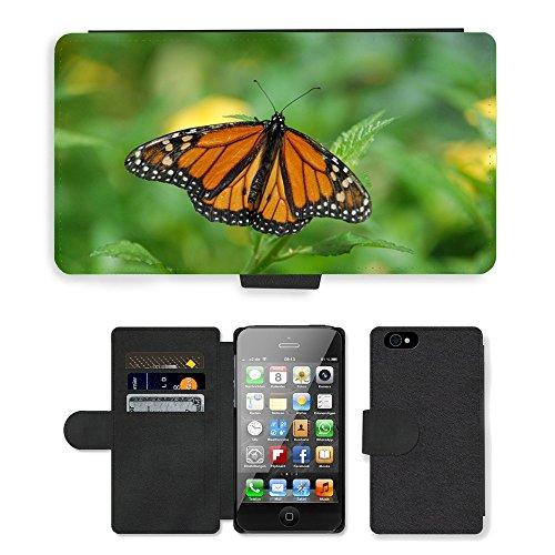 Just Mobile pour Hot Style Téléphone portable étui portefeuille en cuir PU avec fente pour carte//m00138138Gran Canaria Espagne Île papillon//Apple iPhone 44S 4G