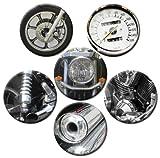 Kühlschrankmagnete Motorrad Teile Magnete für Magnettafel stark 6er Set groß rund 50mm mit Motiv Chopper Details